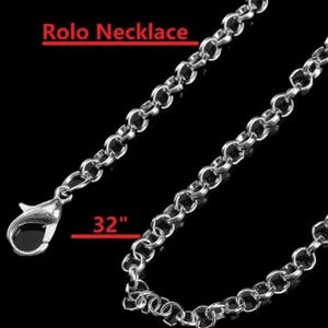 "Jewelry - 3 Pack - New 32"" Silver Plated Rolo Chain Necklace"